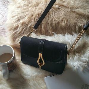 Top Shop Mini Black Cross Bag